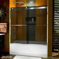 DREAMLINE SHDR-6360602G SAPPHIRE 56-60 W X 60 INCH SEMI-FRAMELESS BYPASS TUB DOOR