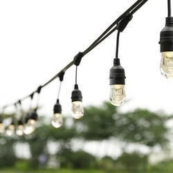 OVE DECORS 15LST-WATD48-RBLSK 48 FOOT WATER DROPLETS STRING LIGHTS WITH BLACK WIRE
