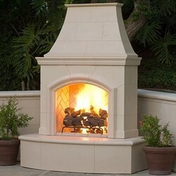 AMERICAN FYRE DESIGNS 017-C 87 INCH VENTED FREE-STANDING OUTDOOR PHOENIX FIREPLACE