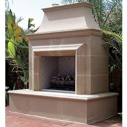 AMERICAN FYRE DESIGNS 023-C 82 INCH VENTED FREE-STANDING OUTDOOR REDUCED CORDOVA FIREPLACE