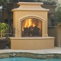 AMERICAN FYRE DESIGNS 073-C 67 INCH VENTED FREE-STANDING OUTDOOR MARIPOSA FIREPLACE