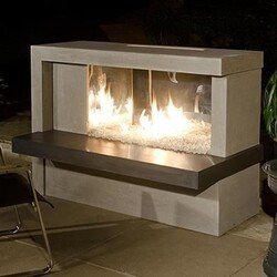 AMERICAN FYRE DESIGNS 082-N-LBC 42 INCH VENTED FREE-STANDING OUTDOOR MANHATTAN FIREPLACE
