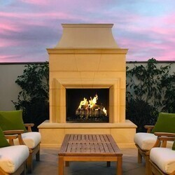 AMERICAN FYRE DESIGNS 122-C 95 INCH VENT-FREE FREE-STANDING OUTDOOR CORDOVA FIREPLACE