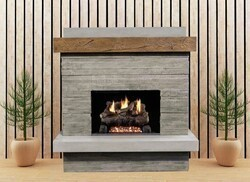 AMERICAN FYRE DESIGNS 150-CG-N 68 1/2 INCH VENT-FREE WALL MOUNT OUTDOOR BROOKLYN FIREPLACE