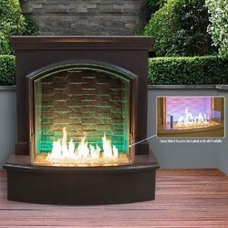 AMERICAN FYRE DESIGNS 695-12-M5C 73 INCH BRICK PATTERN LARGE FIREFALL WITH NIGHT FYRE