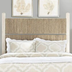 PANAMA JACK 140-220 GRAPHITE 79 1/4 INCH KING WOOD AND WOVEN HEADBOARD