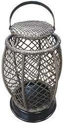 INSPIRED VISIONS 5709000-0128000 HAYES 15 INCH WOVEN LANTERN - BROWN