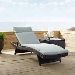 CROSLEY CO7144BR BISCAYNE 79 INCH WICKER CHAISE LOUNGE