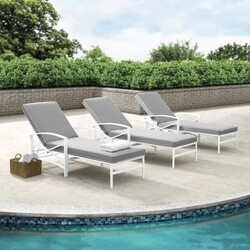 CROSLEY KO60018WH KAPLAN 82 INCH CHAISE LOUNGE WITH WHITE FRAME