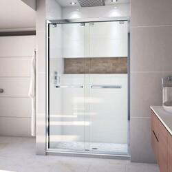 DREAMLINE SHDR-1648760 ENCORE 44-48 W X 76 H FRAMELESS BYPASS SLIDING SHOWER DOOR WITH CLEAR GLASS