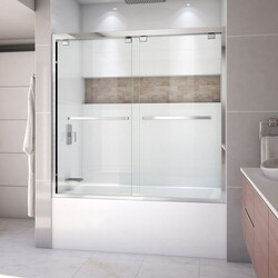 DREAMLINE SHDR-1660580 ENCORE 56-60 W X 58 H SEMI FRAMELESS BYPASS SLIDING TUB DOOR WITH CLEAR GLASS