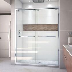 DREAMLINE SHDR-1660760 ENCORE 56-60 W X 76 H FRAMELESS BYPASS SLIDING SHOWER DOOR WITH CLEAR GLASS