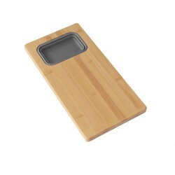 AZUNI A912 17 INCH WORKSTATION BAMBOO CUTTING BOARD WITH 1 COLLAPSIBLE CONTAINER