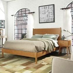 CROSLEY KF725001 LANDON 64 1/4 INCH MID-CENTURY MODERN DESIGN QUEEN BED