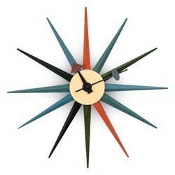LEISUREMOD MCL18 MAXI 19 INCH MODERN DESIGN COLORFUL STAR SILENT NON-TICKING WALL CLOCK