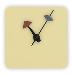 LEISUREMOD MCLS9 MANCHESTER 10 INCH MODERN DESIGN SQUARE SILENT NON-TICKING WALL CLOCK