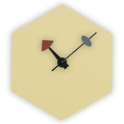LEISUREMOD MCLD13 MANCHESTER 12 INCH MODERN DESIGN HEXAGON SILENT NON-TICKING WALL CLOCK