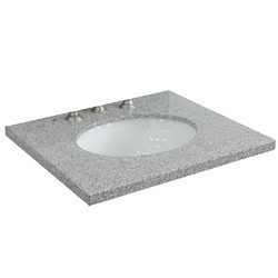 BELLATERRA 430001-25-GYO 25 INCH GRANITE COUNTERTOP WITH SINGLE OVAL SINK - GRAY