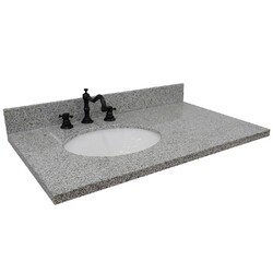 BELLATERRA 430001-37-GYO 37 INCH GRANITE COUNTERTOP WITH SINGLE OVAL SINK