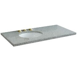 BELLATERRA 430001-43-GYO 43 INCH GRANITE COUNTERTOP WITH SINGLE OVAL SINK