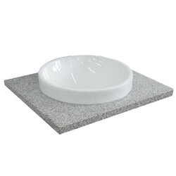 BELLATERRA 430003-25-GYRD 25 INCH GRANITE COUNTERTOP WITH SINGLE ROUND SINK - GRAY