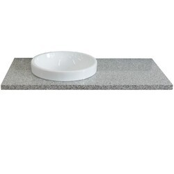 BELLATERRA 430003-43-GYRD 43 INCH GRANITE COUNTERTOP WITH SINGLE ROUND SINK