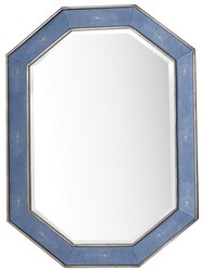 JAMES MARTIN 963-M30-SL-DB TANGENT 30 INCH MIRROR IN SILVER WITH DELFT BLUE