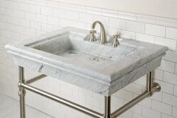 STONE FOREST C75 BORDEAUX 36 1/2 INCH CONSOLE SINK