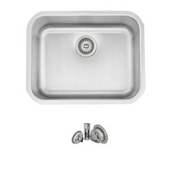 STYLISH S-203T 23 X 18 INCH STAINLESS STEEL SINGLE BASIN DUAL-MOUNT KITCHEN SINK WITH STRAINER