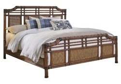 HOSPITALITY RATTAN 1102-5647-ATQ-KB PALM COVE 83 INCH KING COMPLETE BED - ANTIQUE