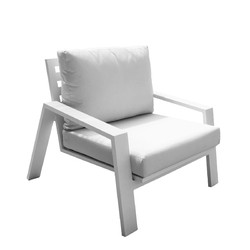 PANAMA JACK PJO-2401-WHT-LC MYKONOS 35 INCH LOUNGE CHAIR WITH CUSHIONS