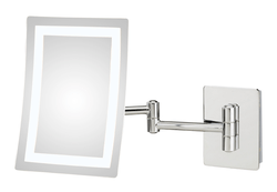 APTATIONS 949-2-HW CONTEMPORARY RECTANGULAR LED LIGHTED MAGNIFYING MAKEUP MIRROR WITH SWITCHABLE LIGHT COLOR
