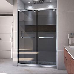 DREAMLINE SHDR-1654760 ENCORE 50-54 W X 76 H INCH SEMI-FRAMELESS BYPASS SLIDING SHOWER DOOR WITH SMOKE GRAY GLASS