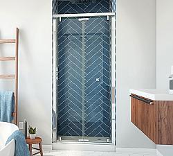 DREAMLINE SHDR-4536741 BUTTERFLY-S 34-35 1/2 W X 74 H INCH SEMI-FRAMELESS SLIDING BI-FOLD SHOWER DOOR
