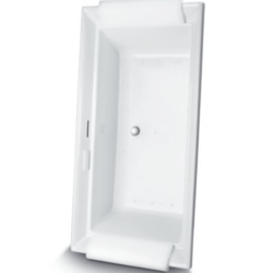 TOTO ABR626 AIMES 71-1/2 X 36-3/16 X 24-1/16 INCH ACRYLIC AIR BATHTUB WITH CENTER DRAIN