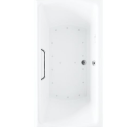 TOTO ABR781 CLAYTON 60 X 32 X 24-3/4 INCH AIR BATH WITH CENTER DRAIN