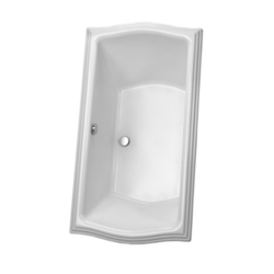 TOTO ABY781N CLAYTON 60 X 32 X24-3/8 INCH ACRYLIC SOAKING BATHTUB WITH CENTER DRAIN
