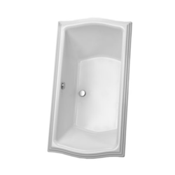 TOTO ABY789N CLAYTON 66 X36 24-3/4 INCH ACRYLIC SOAKING BATHTUB WITH CENTER DRAIN