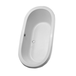 TOTO ABY794N 71-3/8 X 35-7/16 X 23-13/16 INCH NEXUS SOAKER BATHTUB WITH CENTER DRAIN
