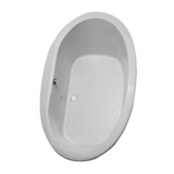 TOTO ABY904N 72 X 42 X 24-1/2 INCH PACIFICA SOAKER BATHTUB WITH CENTER DRAIN