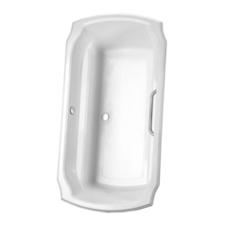 TOTO ABY974N 71-1/2 X 38 X 24 INCH GUINEVERE SOAKER BATHTUB WITH CENTER DRAIN