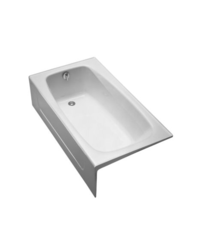 TOTO FBY1525LP 59-3/4 X 32 X 16-3/4 INCH ENAMELED CAST IRON BATHTUB WITH LEFT DRAIN