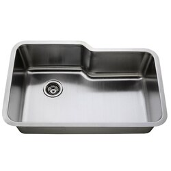 LESS CARE L108 32 INCH UNDERMOUNT STAINLESS STEEL SINGLE BOWL KITCHEN SINK