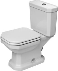 DURAVIT 213001 1930 SERIES 14-1/8 X 26-1/8 INCH TWO-PIECE TOILET IN WHITE, BOWL ONLY