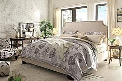 DIAMOND SOFA KINGSTONSDQUBED KINGSTON 67 INCH LINEN QUEEN BED WITH NAIL HEAD ACCENT - DESERT SAND