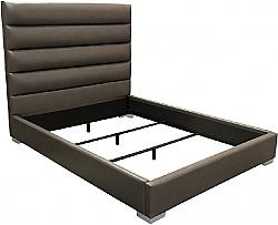 DIAMOND SOFA BARDOTEKBED BARDOT 82 INCH LEATHERETTE EASTERN KING BED WITH CHANNEL-TUFTED HEADBOARD AND LOW PROFILE DESIGN