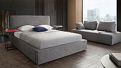 DIAMOND SOFA CLOUDEKBED CLOUD 85 INCH FABRIC EASTERN KING SIZE BED WITH PIPED STITCHING AND LOW PROFILE