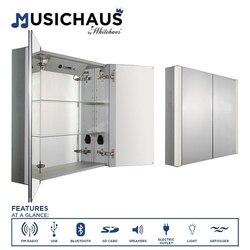 WHITEHAUS WHFEL8069-S 31-1/2 INCH MUSICHAUS DOUBLE DOOR CABINET