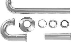 DURAVIT 0050260000 MULTIPLE SIPHON 1-1/4 INCH FOT WASHBASIN OUTLET PIPE 1-1/4 INCH CHROME