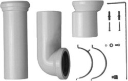 DURAVIT 0014220000 MULTIPLE VARIO CONNECTOR SET FOR HORIZONTAL OR VERTICAL OUTLET INCLUDED EXCENTER